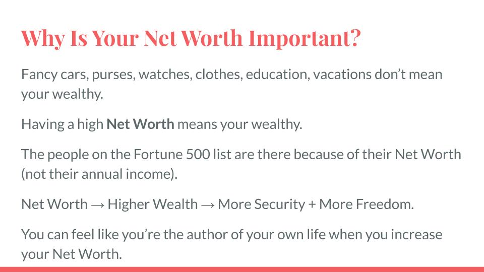 Why Is Your Net Worth Important