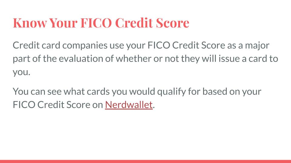 Know Your FICO Credit Score