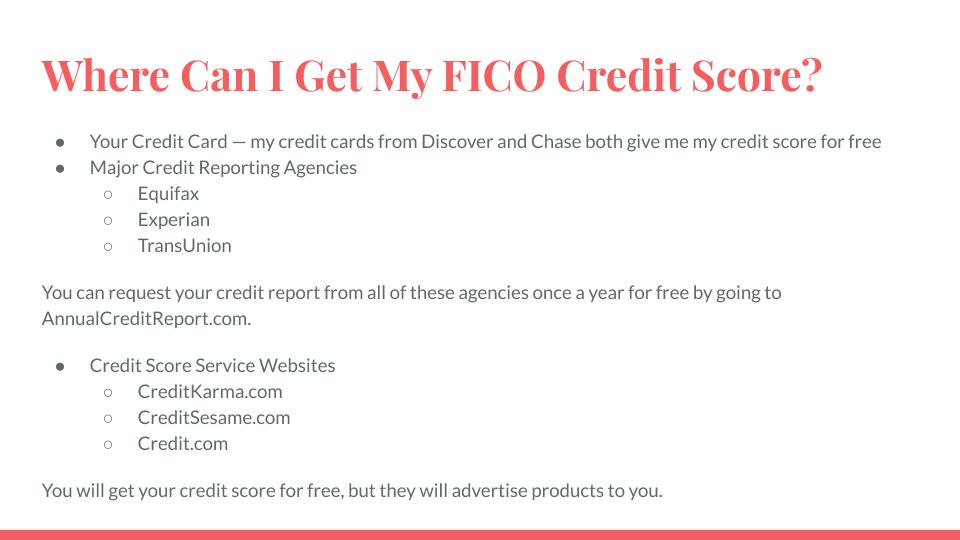 Where Can I Get My FICO Credit Score?