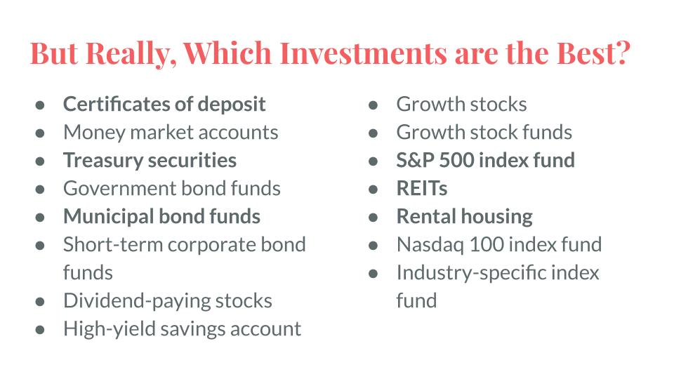 But Really, Which Investments are the Best?