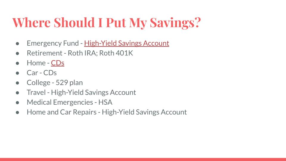 Where Should I Put My Savings?
