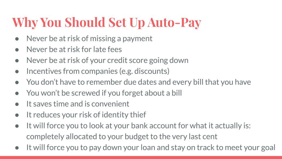 Why You Should Set Up Auto-Pay
