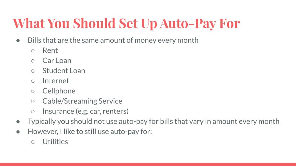 What You Should Set Up Auto-Pay For