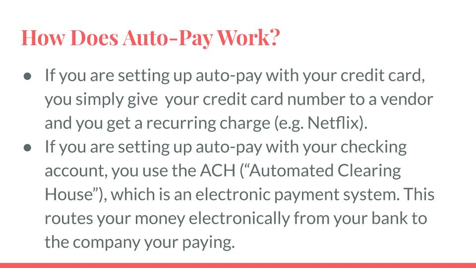How Does Auto-Pay Work?