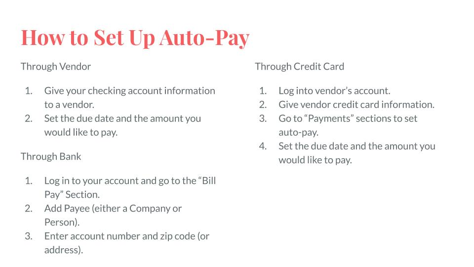 How to Set Up Auto-Pay