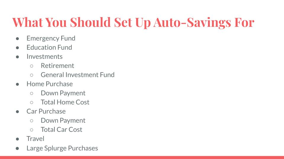 What You Should Set Up Auto-Savings For